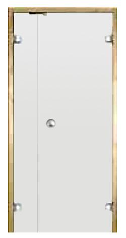 * Dvoukřídlé celoskleněné dveře